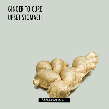 HOW TO USE GINGER TO CURE UPSET STOMACH