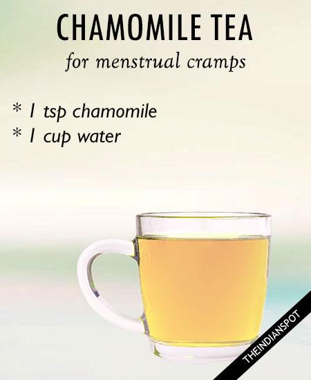 TEAS FOR MENSTRUAL CRAMPS