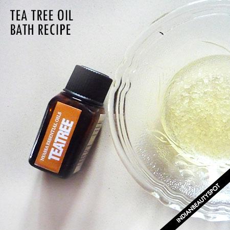 TEA TREE OIL BATH - BENEFITS AND RECIPE