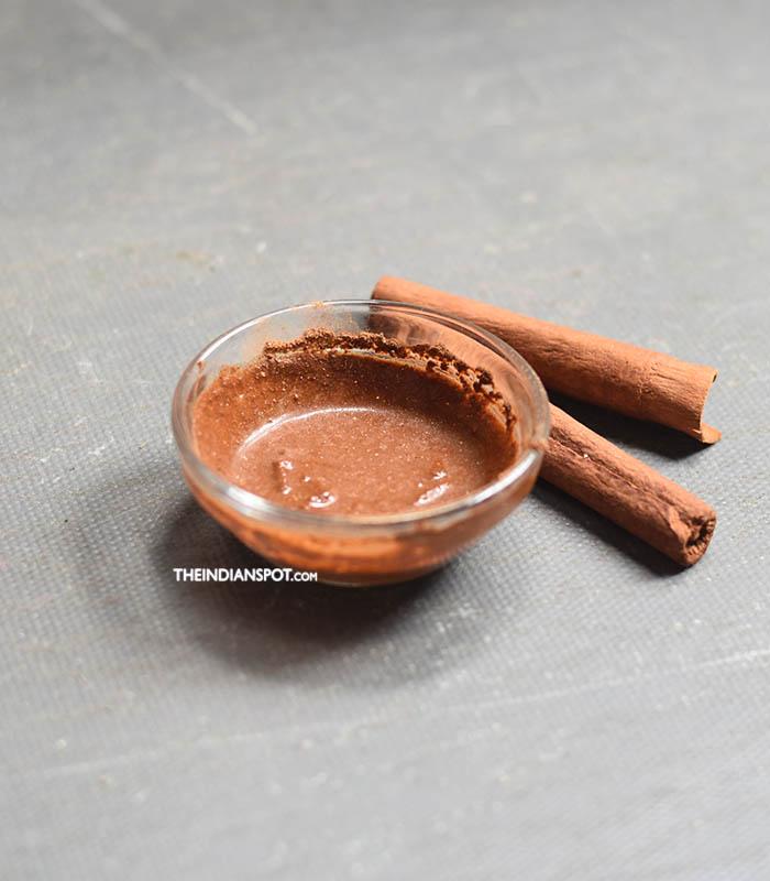 Cinnamon mask to unclog pores