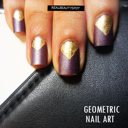 Diy Geometric Nail Art Tutorial