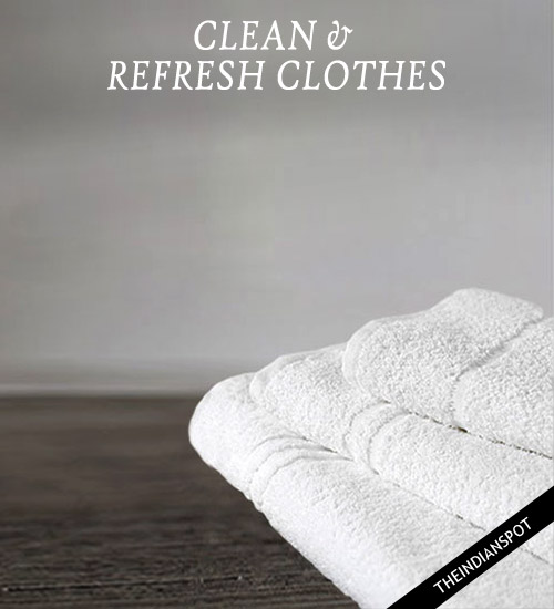 REMOVE MILDEW SMELL FROM TOWELS AND CLOTHES
