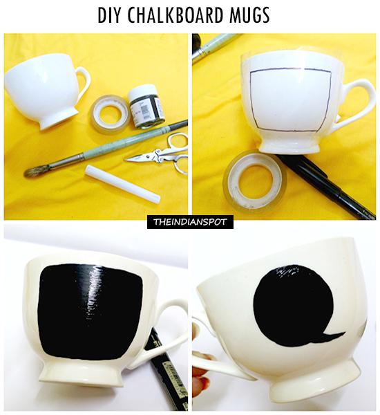 DIY – CHALKBOARD MUGS
