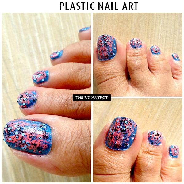 Diy Toe Nail Art Plastic Nail Art Technique