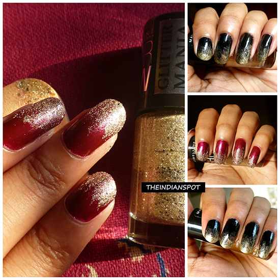 Diy Simple Gradient Glitter Nail Art Designs