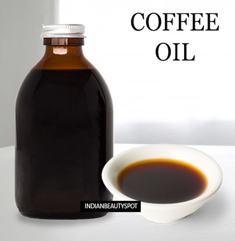DIY homemade coffee oil for stretch marks -