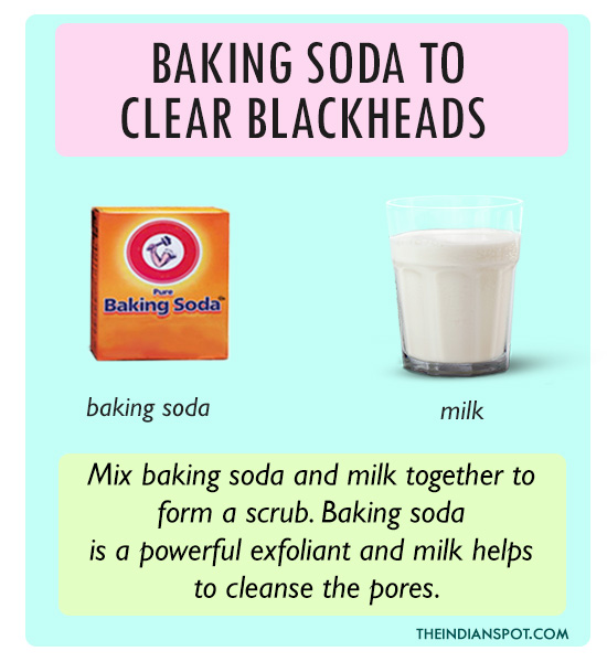 Baking soda to Clear blackheads