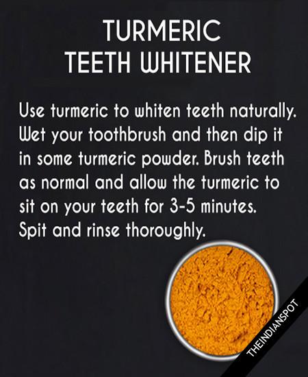 WHITEN TEETH WITH TURMERIC -