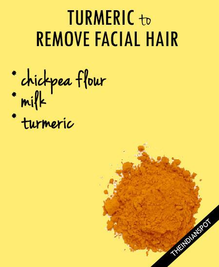 Turmeric For Facial Hair Remedies -
