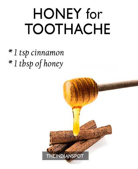 HONEY FOR TOOTHACHE