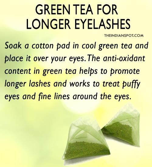 Green tea for longer lashes -