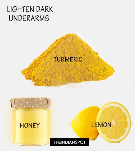 Dark Underarms remedy with turmeric