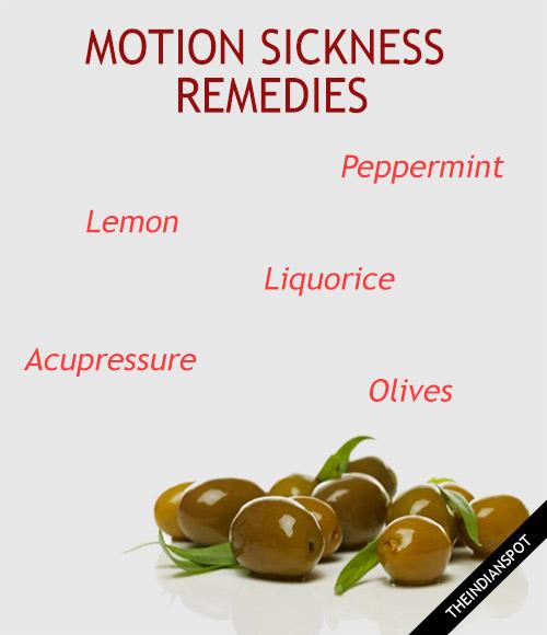 6 MOTION SICKNESS REMEDIES