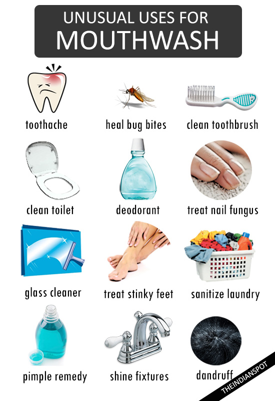 25 Unique and Amazing Uses for a Mouthwash