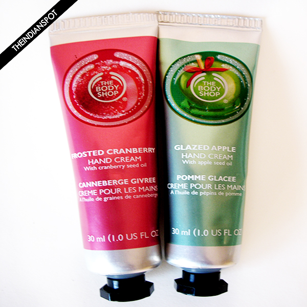 The Body Shop Frosted Cranberry and Glazed Apple Hand Creams