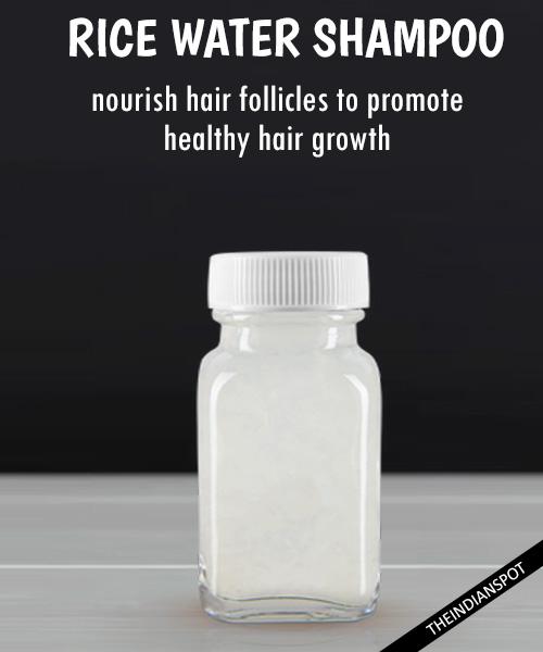 Rice Water Shampoo - nourish hair follicles: