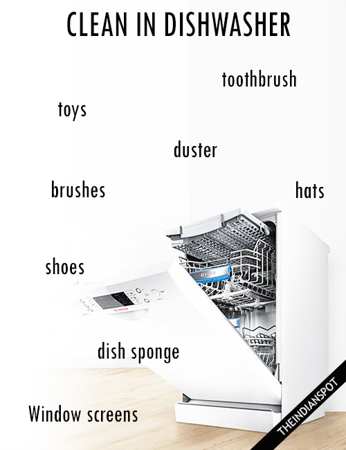 SURPRISING THINGS TO CLEAN IN A DISHWASHER