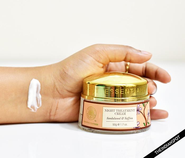 Forest Essentials Night Treatment Cream Sandalwood & Saffron