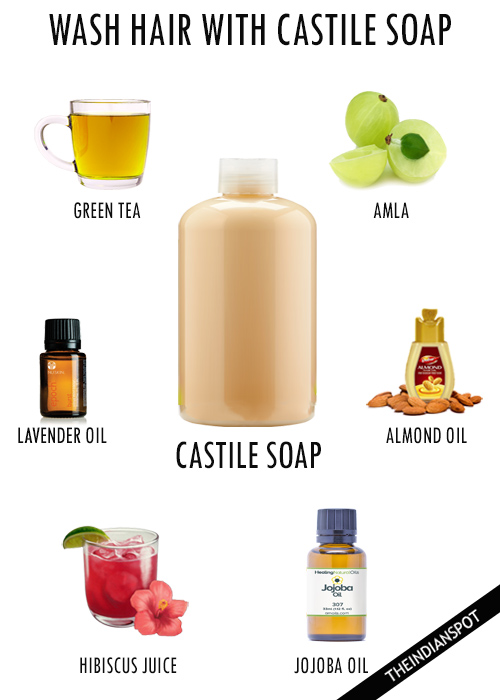 WASH HAIR WITH CASTILE SOAP
