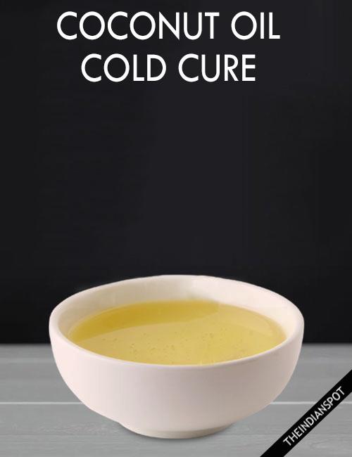 DIY COCONUT OIL COLD CURE