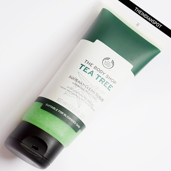 THE BODY SHOP TEA TREE SQUEAKY CLEAN SCRUB REVIEW