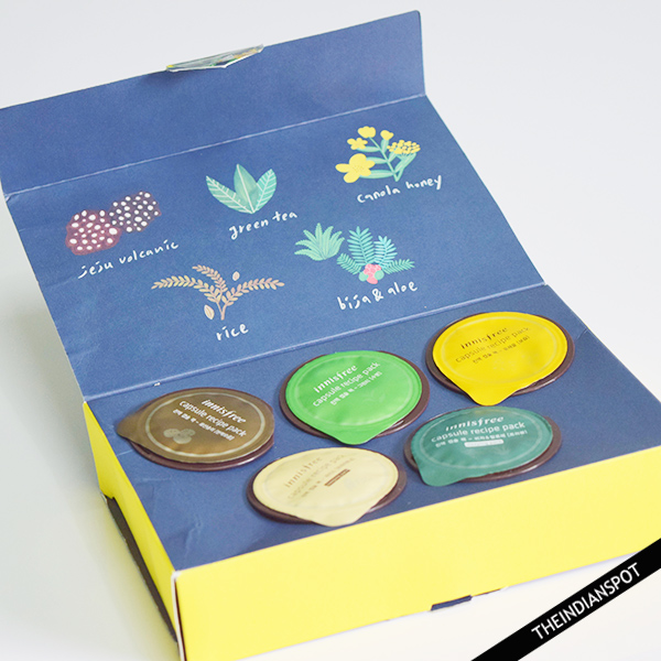 INNISFREE CAPSULE RECIPE PACKS REVIEW