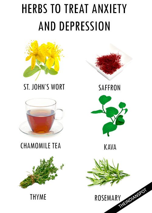 HERBS TO HELP TREAT DEPRESSION AND ANXIETY