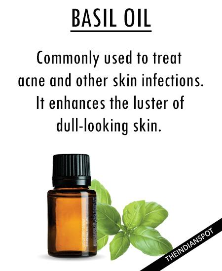 Best Essential Oils for skincare - basil