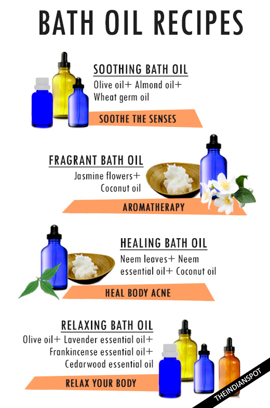DIY HOMEMADE BATH OIL RECIPES FOR SMOOTHER, HEALTHY SKIN - THE