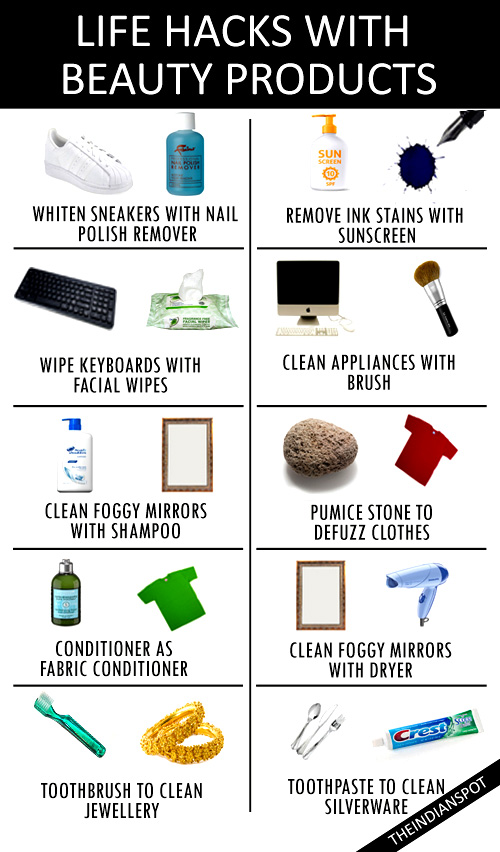 LIFE HACKS WITH BEAUTY PRODUCTS