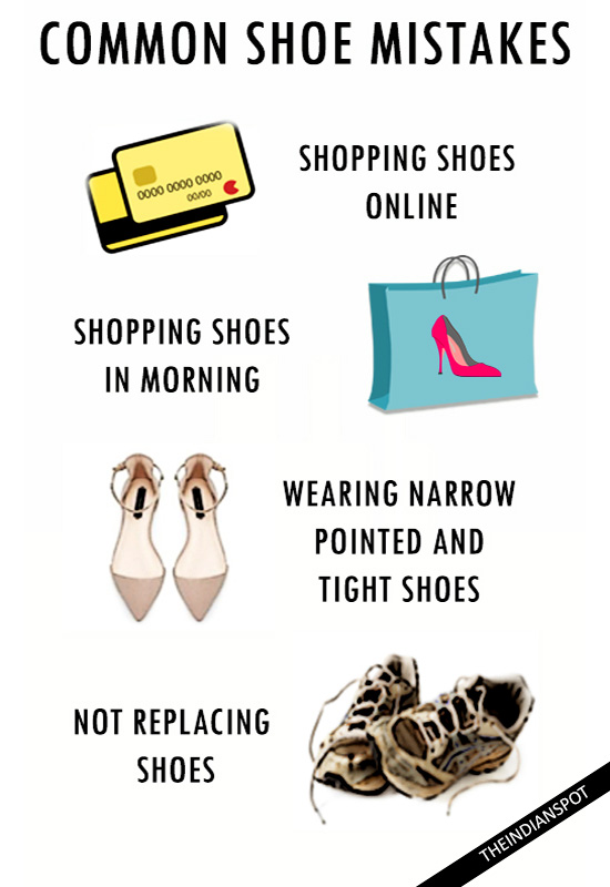 COMMON SHOE MISTAKES YOU MAKE THAT ARE KILLING YOUR FEET