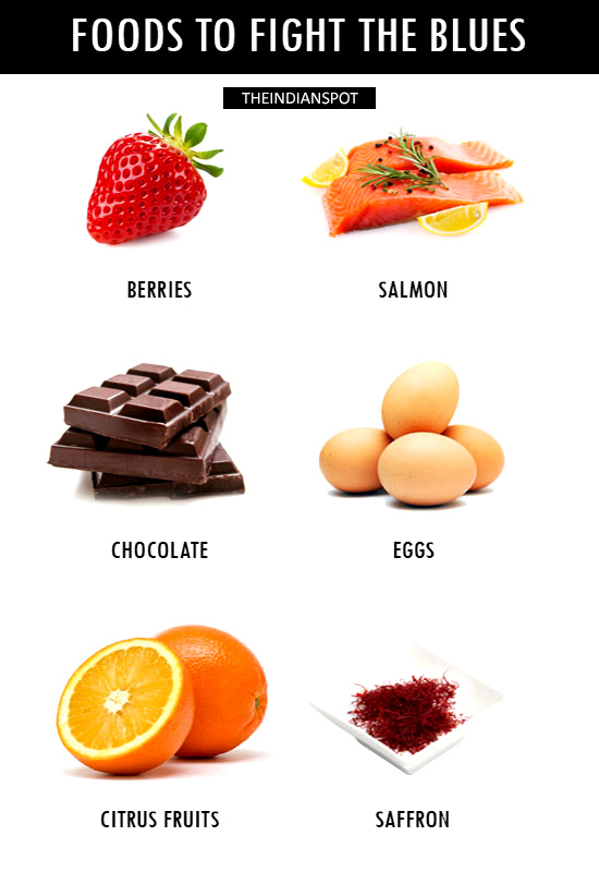 FOODS TO FIGHT THE BLUES