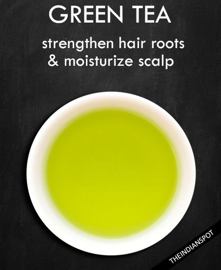 GREEN TEA - strong , shiny hair