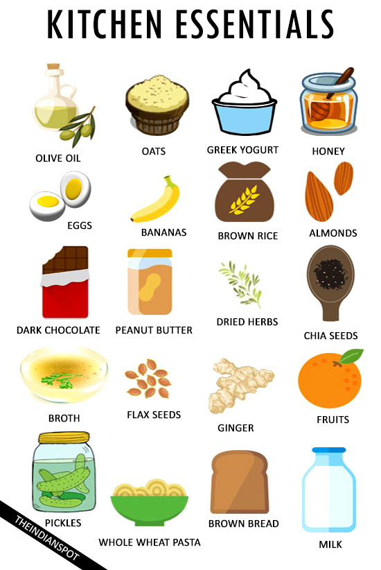 FOODS YOU SHOULD ALWAYS HAVE IN YOUR KITCHEN