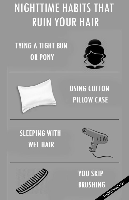 NIGHT TIME HABITS THAT RUIN YOUR HAIR