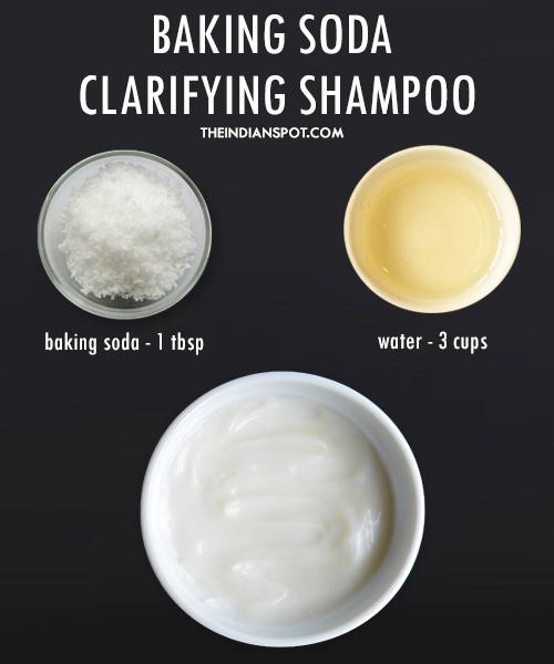 Baking soda shampoo - clarifying shampoo: