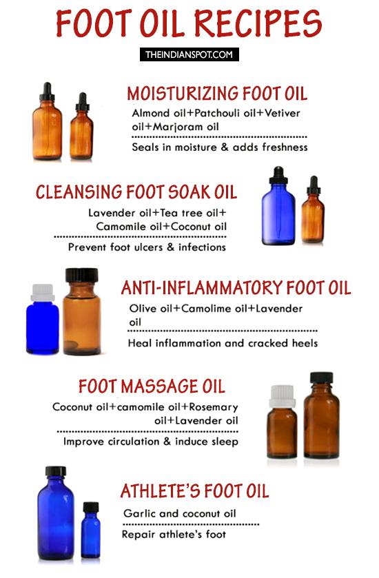 FOOT OIL RECIPES