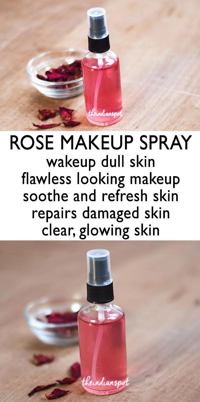 DIY 3 Natural Makeup setting Spray for long lasting and flawless makeup