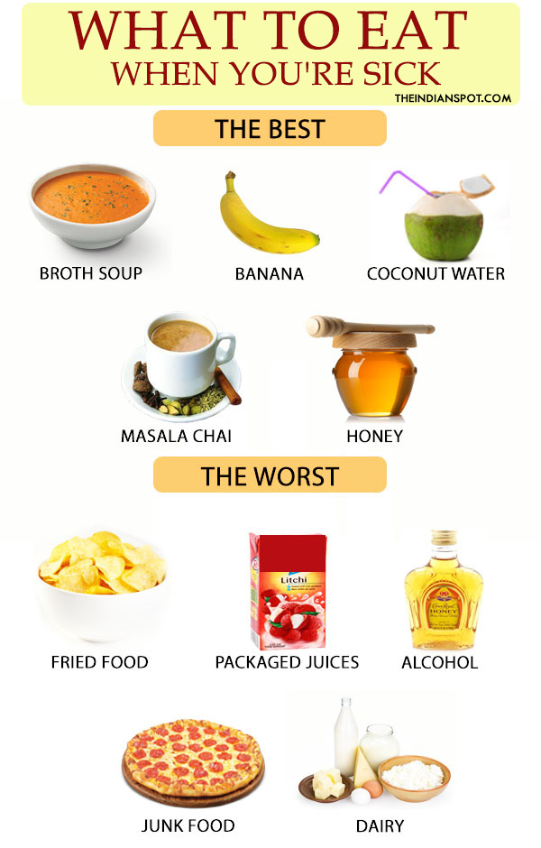 BEST AND WORST FOODS TO EAT WHEN YOU ARE SICK