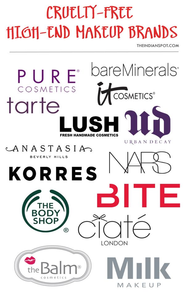 TOP CRUELTY-FREE MID & HIGH-END MAKEUP BRANDS