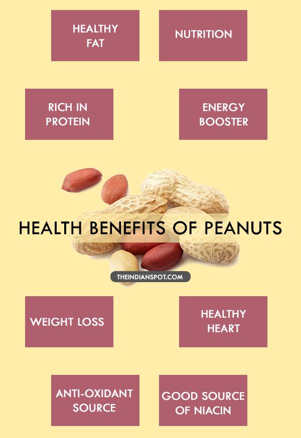 HEALTH BENEFITS OF PEANUTS
