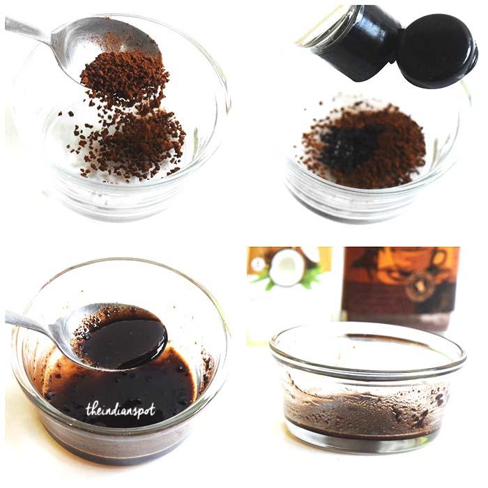 COFFEE EYE MASK TO GET RID OF DARK CIRCLES