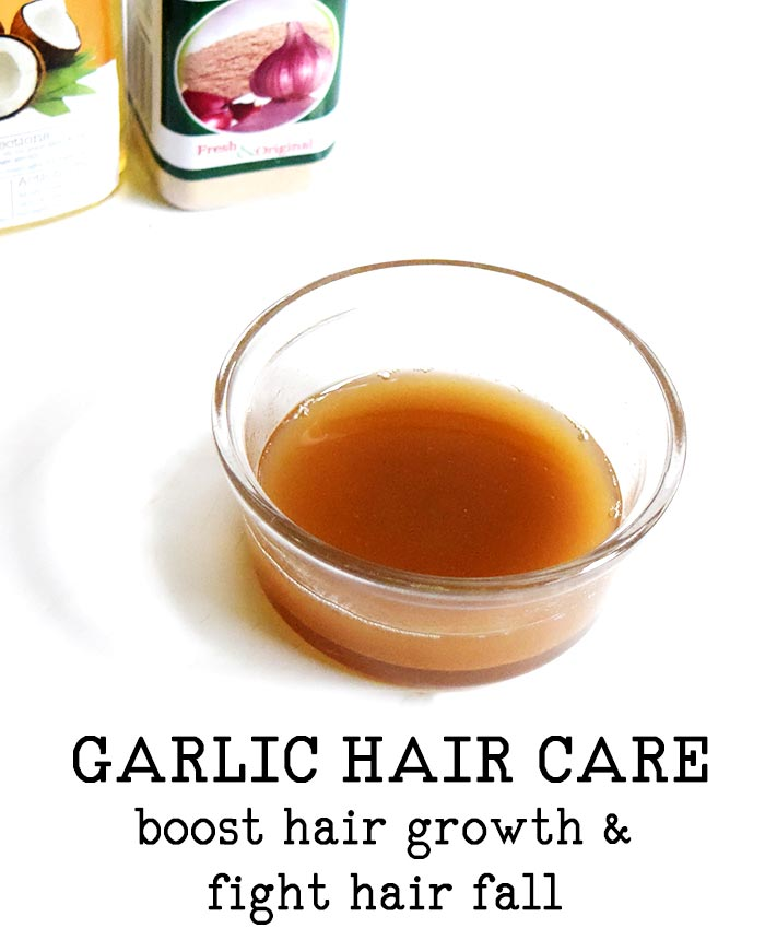 GARLIC SCALP TREATMENT FOR HAIR GROWTH AND FIGHTING HAIR LOSS
