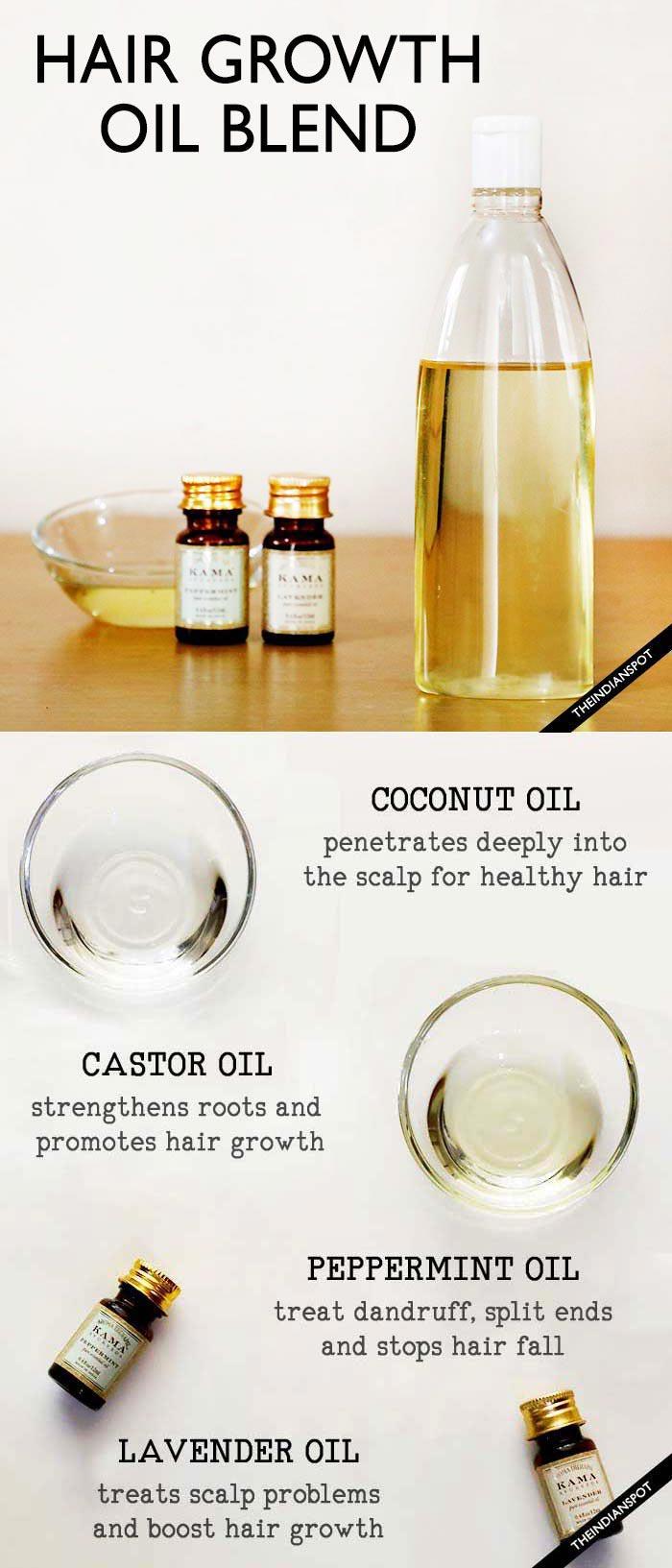 COCONUT HAIR GROWTH OIL FOR LONG SHINY HAIR