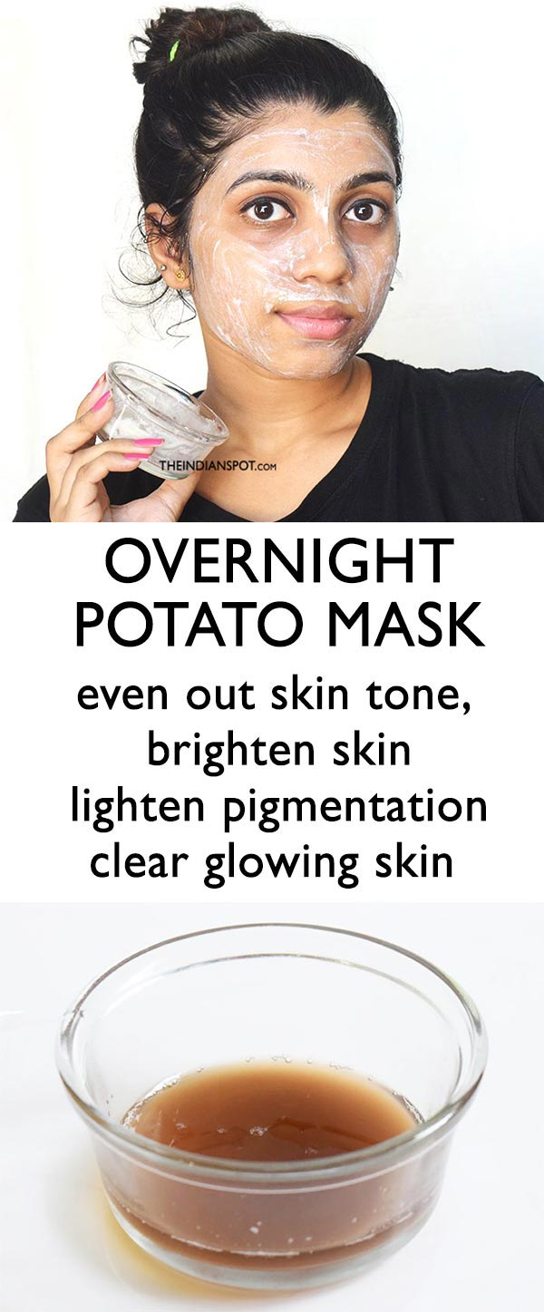 OVERNIGHT POTATO MASK FOR BRIGHT AND CLEAR SKIN