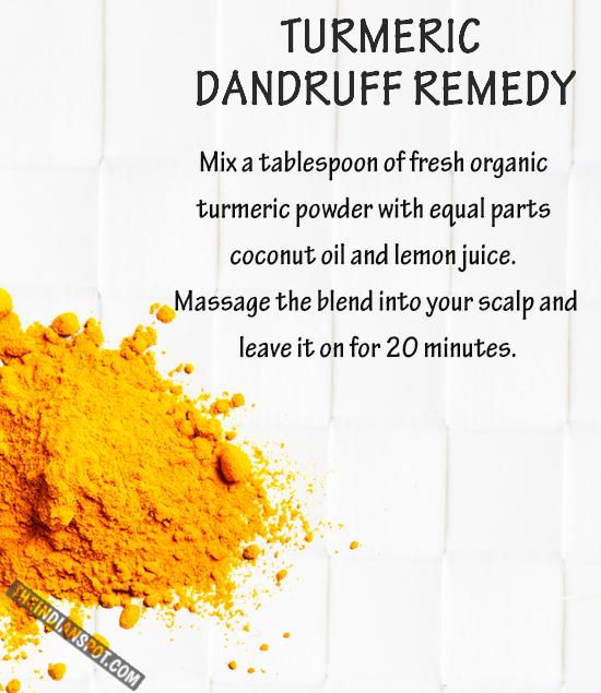 Use Turmeric to Keep dandruff at bay
