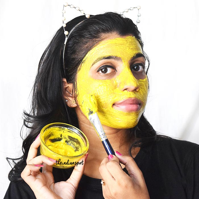 TURMERIC MASK FOR CLEAR, BRIGHT AND ACNE FREE SKIN