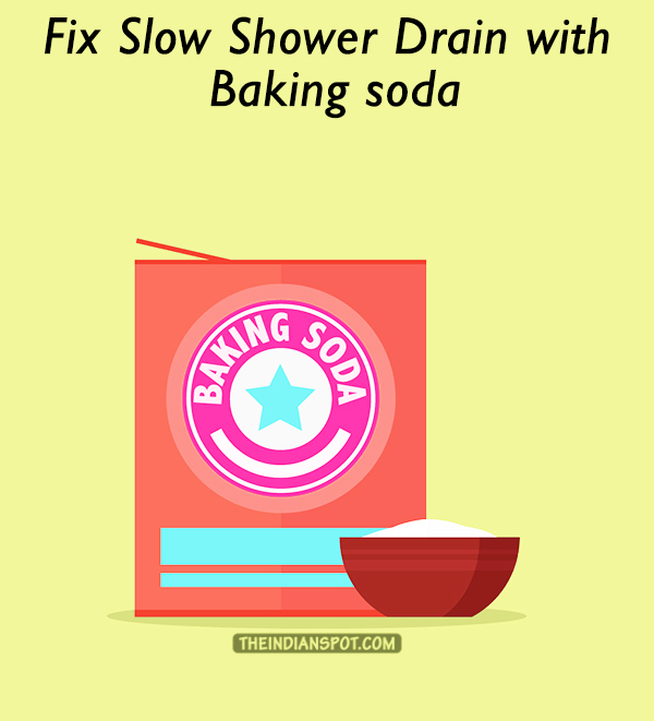 Fix Slow Shower Drain with Baking soda