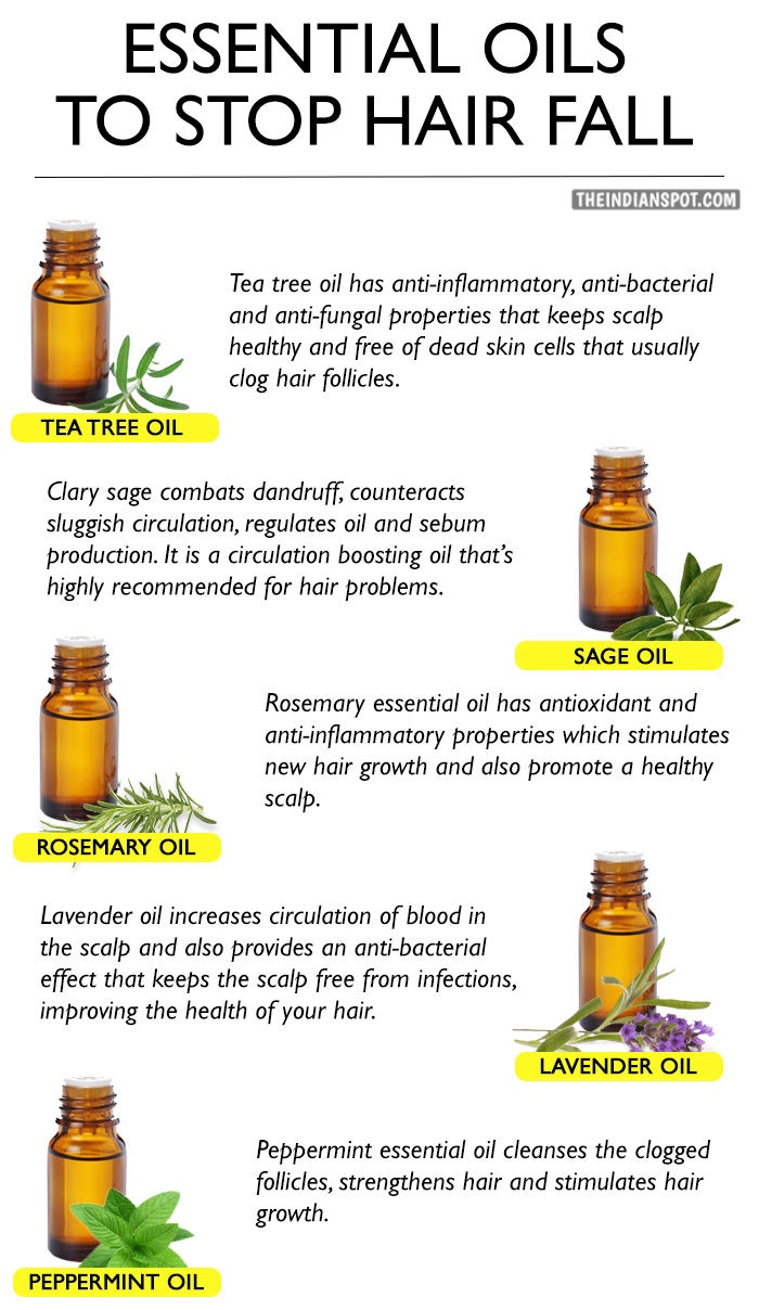 List Of Essential Oils To Stop Hair Fall The Indian Spot
