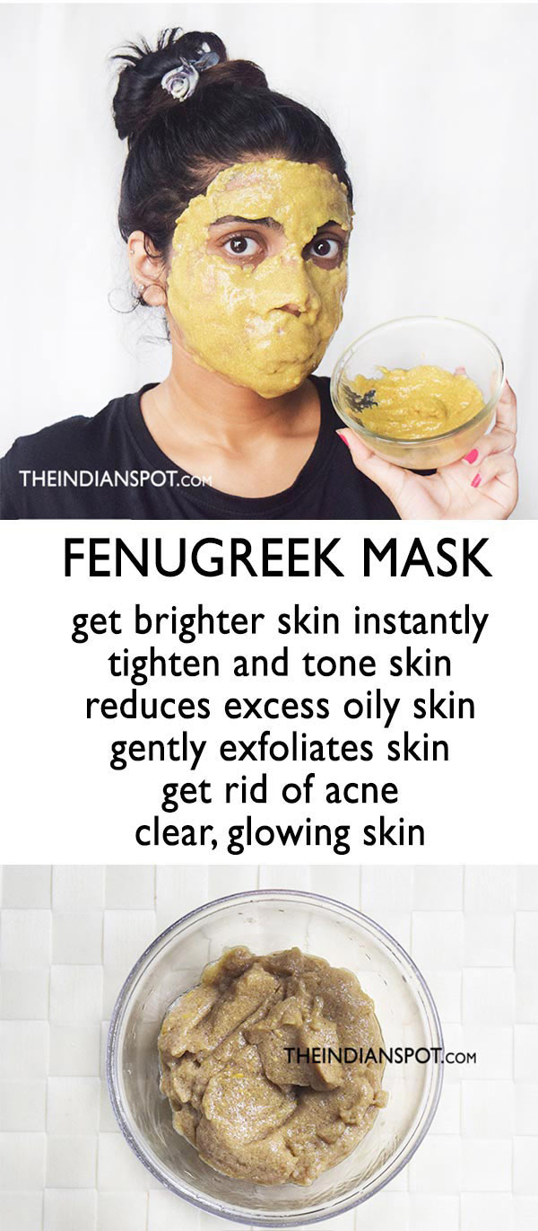 FENUGREEK MASK FOR CLEAR AND BRIGHT SKIN